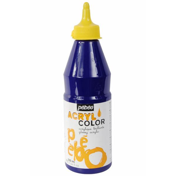 p b o acrylcolor 500 ml bleu outremer pebeo acrylcolor. Black Bedroom Furniture Sets. Home Design Ideas