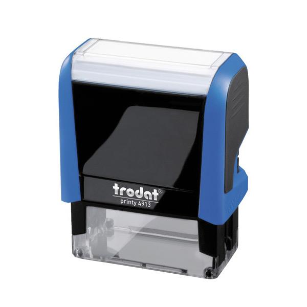 monture plastique trodat printy 4913 58x22 mm tampon plaque timbre marqueur automatique troda. Black Bedroom Furniture Sets. Home Design Ideas