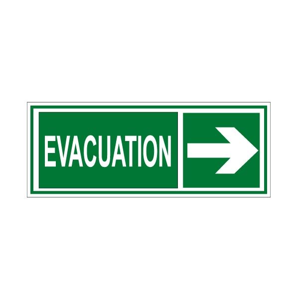 panneau pvc horizontal 250x100 mm evacuation vers la. Black Bedroom Furniture Sets. Home Design Ideas