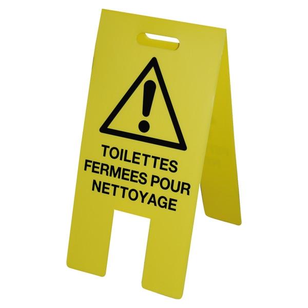 Portique mobile de signalisation toilettes ferm es toilette panneau attenti - Nettoyage toilettes encrassees ...