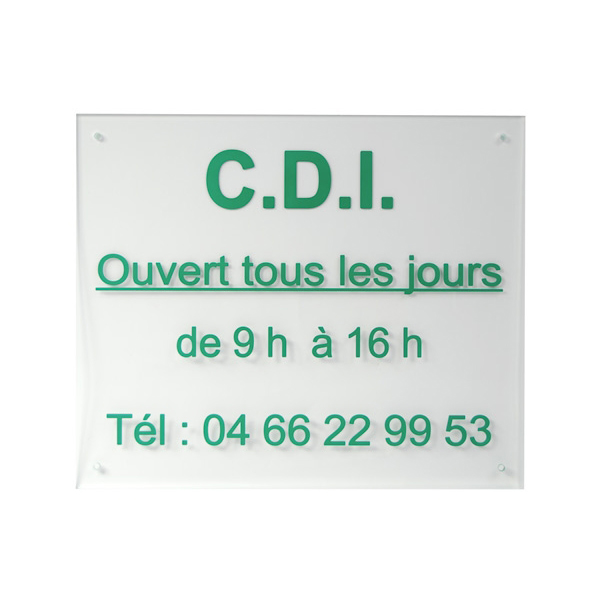plaque horaires plexiglas 250x300 mm couleur plaque de horaire affichage exterieur interieur. Black Bedroom Furniture Sets. Home Design Ideas