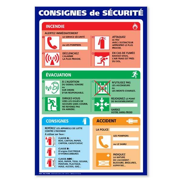 Affiche consignes de s curit affichage obligatoire consigne et affiche de - Respecter les consignes de securite ...