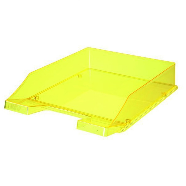 corbeille courrier transparente han n on jaune corbeille courrier gamme classique han. Black Bedroom Furniture Sets. Home Design Ideas