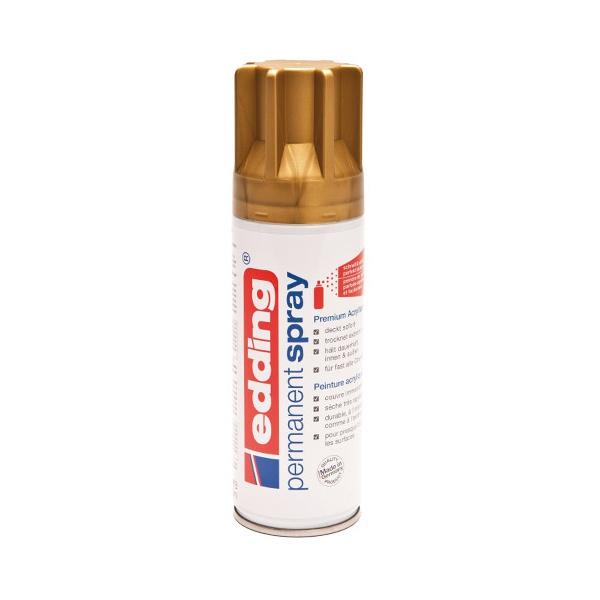 peinture acrylique edding permanent spray or bombe a rosol 200 ml spray de peinture. Black Bedroom Furniture Sets. Home Design Ideas
