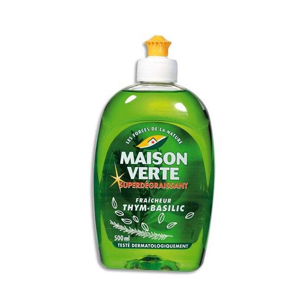 Liquide vaisselle maison verte flacon de 500ml liquide - Maison verte produits d entretien ...