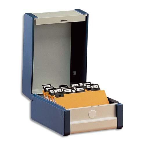 bo te fiches en hauteur a5 bleue format portrait boite fiche pour le classement. Black Bedroom Furniture Sets. Home Design Ideas