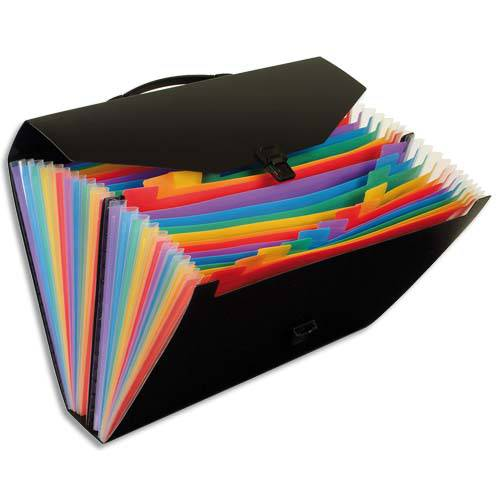 Valisette Trieur Rainbow 24 Compartiments Valisette Viquel Rainbow Trieur Valise Mallette Boite De Rangement Pour Chemise A Avec Onglet Document Papier Administratif A Tri Val D Eure