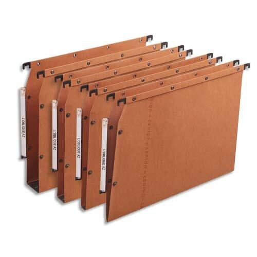 dossiers suspendus kraft orange azv ultimate armoire f30 bo te de 25 dossier suspendu pour. Black Bedroom Furniture Sets. Home Design Ideas