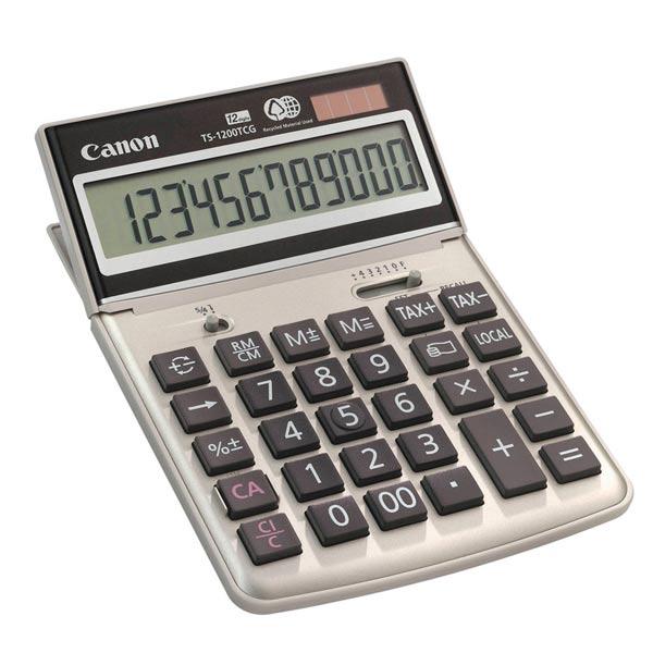 Calculatrice de bureau canon ts 1200tcg calculatrice de for Fourniture bureau professionnelle