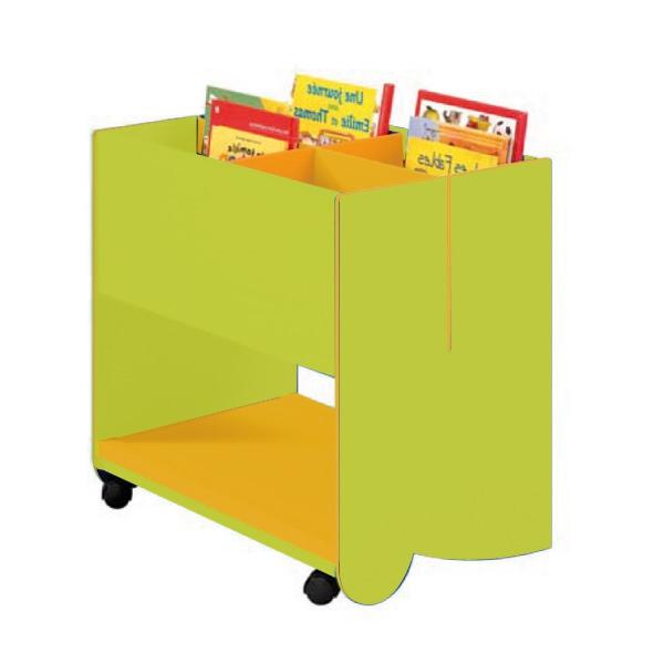 bac livres m dium avec roulettes meuble ranger classe. Black Bedroom Furniture Sets. Home Design Ideas