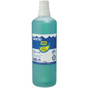 Colle bleue giotto bib flacon de 1 litre colle bleue bleu transparente liquide bib giotto 1l - Colle giotto transparente ...