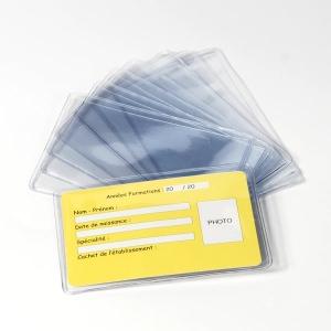 haut fonctionnaire rechercher les plus récents pour toute la famille Paquet de 100 étuis souples pour carte PVC - etui protege ...