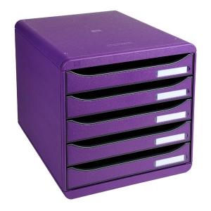 module de classement big box plus classic 5 tiroirs violet module de classement avec 5. Black Bedroom Furniture Sets. Home Design Ideas