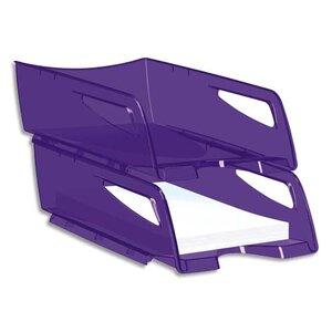 corbeille courrier maxi violet corbeille papier courrier courier banette bannette de. Black Bedroom Furniture Sets. Home Design Ideas