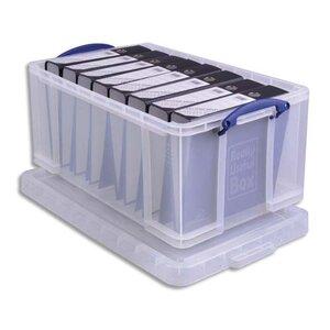 bo te de rangement plastique a4 avec couvercle 64 litres boite de rangement classement. Black Bedroom Furniture Sets. Home Design Ideas