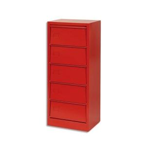colonne de classement 5 clapets rouge rangement. Black Bedroom Furniture Sets. Home Design Ideas