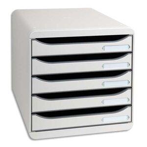 module de classement big box plus classic 5 tiroirs gris module de classement avec 5 tiroir. Black Bedroom Furniture Sets. Home Design Ideas