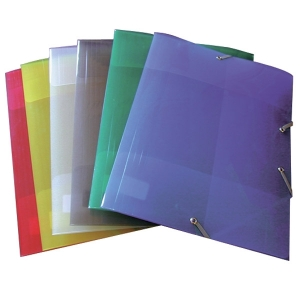 Chemises Polypropyl Ne Lastique 3 Rabats Assorties Lot De 25 Chemise Transparent Pvc Pp
