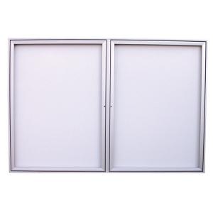 Vitrine murale d 39 affichage ext rieur aluminium 12x a4 for Porte exterieur aluminium prix
