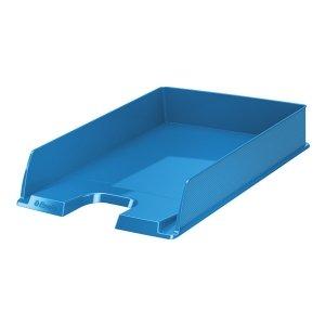corbeille courrier esselte vivida a4 bleu corbeille courrier banette papier document. Black Bedroom Furniture Sets. Home Design Ideas